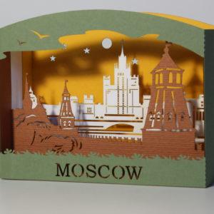 Москва: Объемные открытки